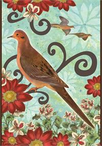 Toland Flag, Mourning Dove - House Flag