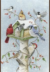 Toland Flag, Winter Birds - House Flag