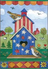 Toland Flag, American Birdhouse - House Flag