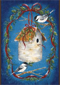 Toland Flag, House of Chickadees - Garden Flag