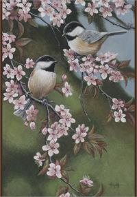 Toland Flag, Forget Me Not Chickadees - HF