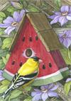 Toland Flag, Watermelon Birdhouse - Garden Flag