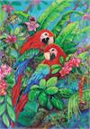 Toland Flag, Scarlet Macaws - House Flag